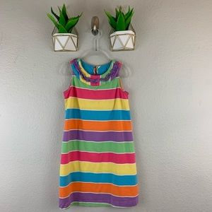 Hanna Andersson Dress Size 110 Sleeveless Striped